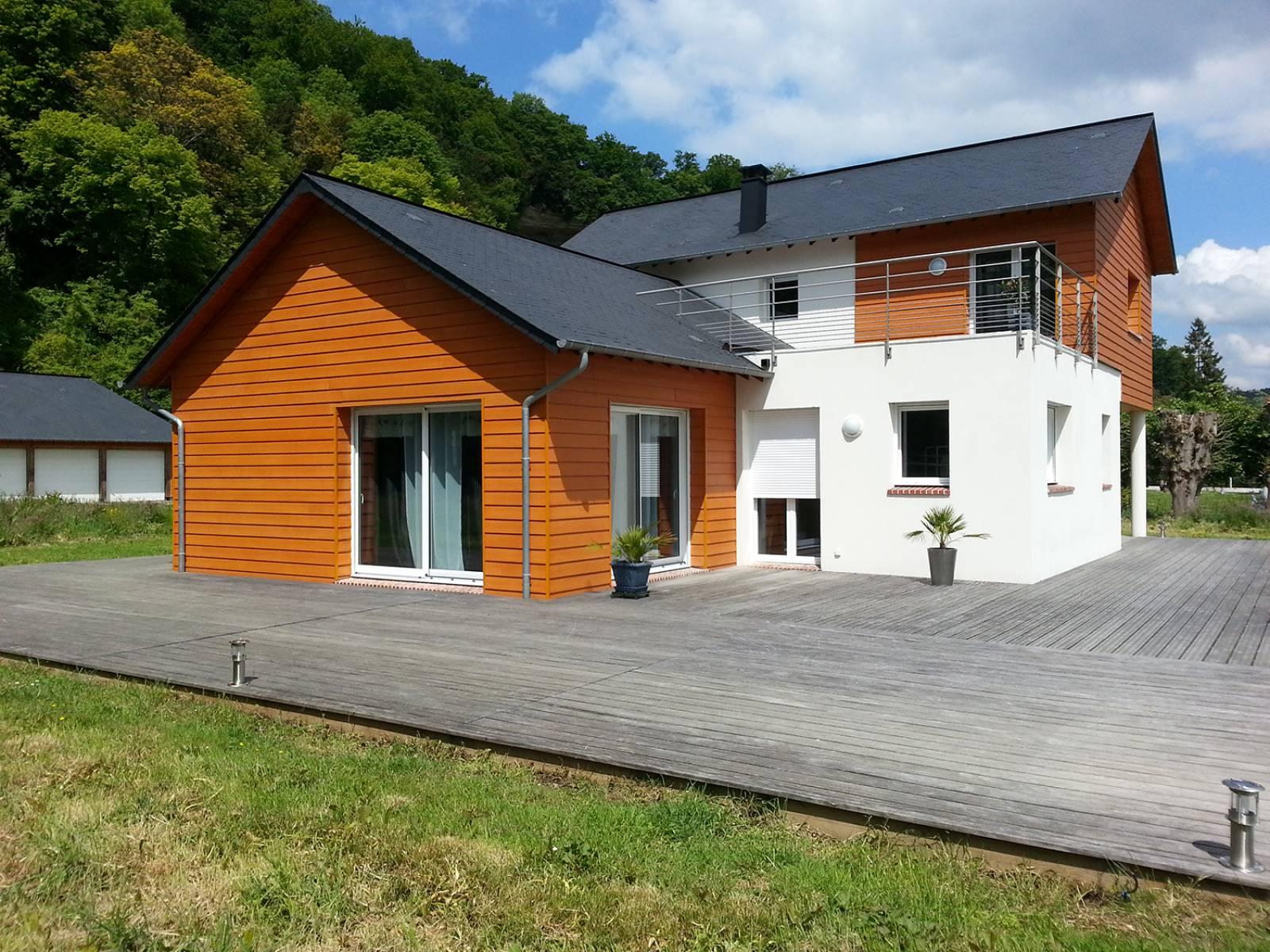 Maison mixte moderne et contemporaine, proche de Rouen en Seine ...
